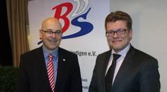 Ministerpräsident Torsten Albig (links) stellte sich im Best Western Hotel Prisma den Fragen und Anregungen der BDS Mitglieder.